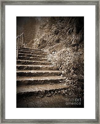Up To The Unknown Framed Print by Tina Wentworth