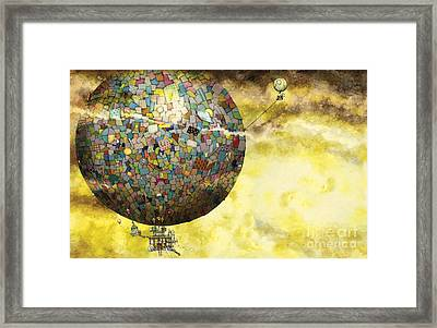 Up Up And Away Framed Print by Colin Thompson