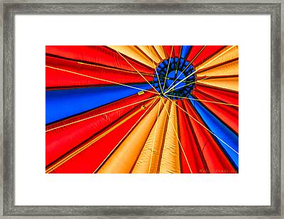 Up Up And Away Framed Print by Hali Sowle