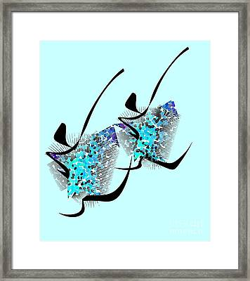 Up Up And Away Framed Print by Iris Gelbart