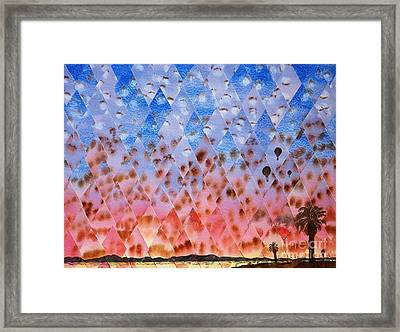 Up Up And Away Framed Print by Jeni Bate