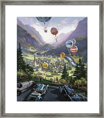 Up Up And Away Framed Print by Michael Young