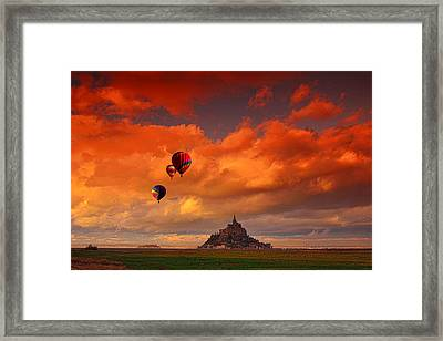 Up Up And Away Framed Print by Midori Chan