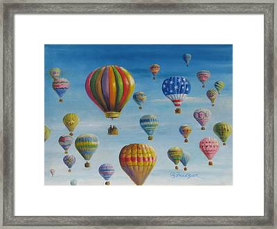 Up Up And Away Framed Print by Oz Freedgood