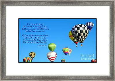 Up Up And Away Poetry Photography Framed Print