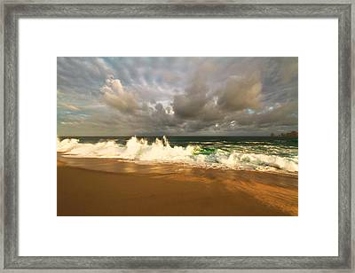 Framed Print featuring the photograph Upcoming Tropical Storm by Eti Reid
