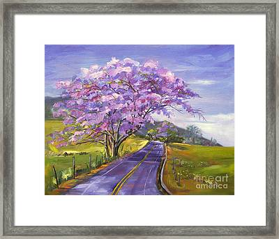 Upcountry In Bloom Framed Print by Jennifer Beaudet