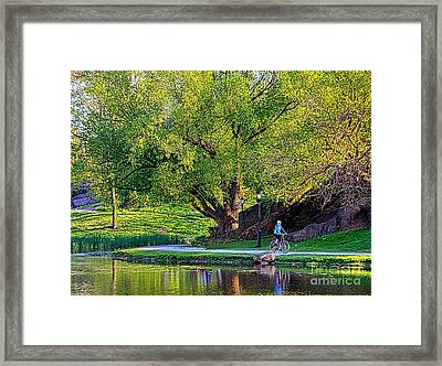 Uphill All The Way Framed Print