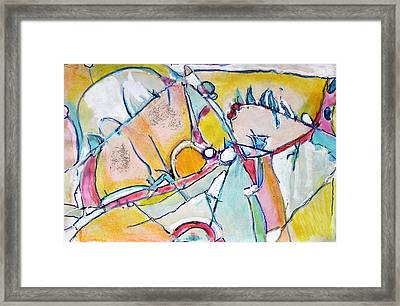 Uphill And Downhill Framed Print by Hari Thomas