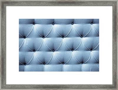 Upholstery Background Framed Print by Tom Gowanlock