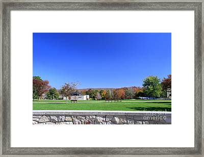 Upj Campus Framed Print