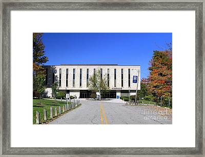 Upj Library Framed Print