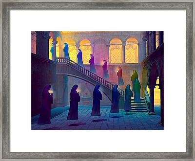 Framed Print featuring the painting Uplifting Prayer by Dave Luebbert