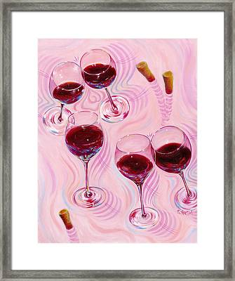 Framed Print featuring the painting Uplifting Spirits  by Sandi Whetzel