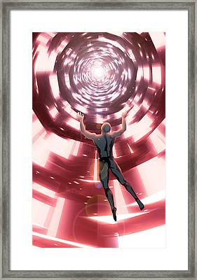 Framed Print featuring the digital art Upload by Matt Lindley