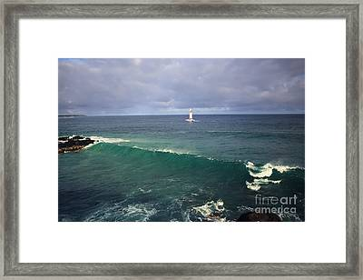 Upon A Wave Framed Print