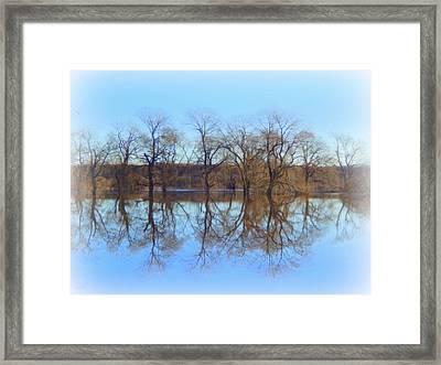 Upon Reflection Framed Print by Karen Cook