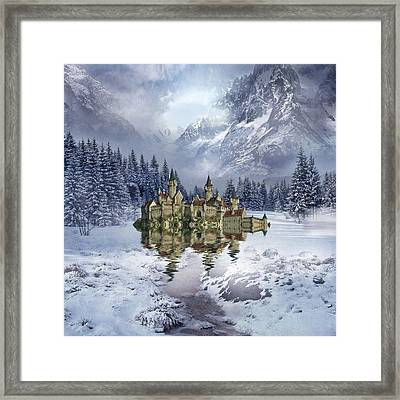 Upon The Glacier Framed Print by Sharon Lisa Clarke
