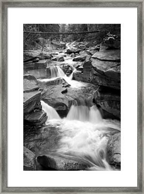 Upper Ammonoosuc Falls Black And White Framed Print by Brett Pelletier