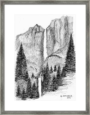 Upper And Lower Falls Framed Print
