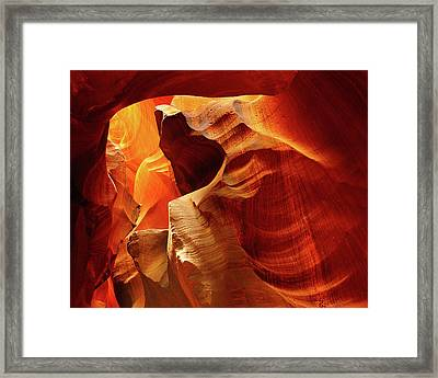 Upper Antelope Canyon, Page, Arizona Framed Print by Michel Hersen