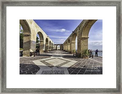Upper Barrakka Gardens Malta Framed Print by Frank Bach