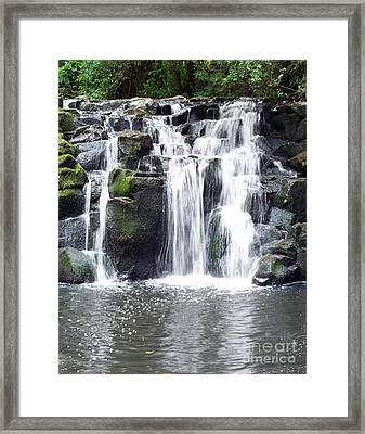 Framed Print featuring the photograph Upper Beaver Falls by Chalet Roome-Rigdon