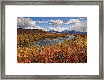 Upper Blackstone River Flowing North Framed Print