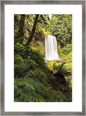 Upper Bridal Veil Falls 1 Framed Print
