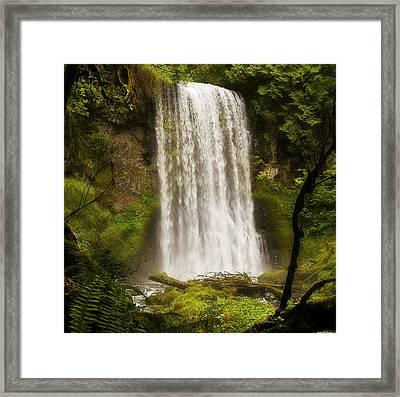 Upper Bridal Veil Falls 2 Framed Print