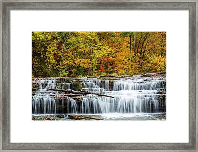 Upper Cataract Falls On Mill Creek Framed Print by Chuck Haney