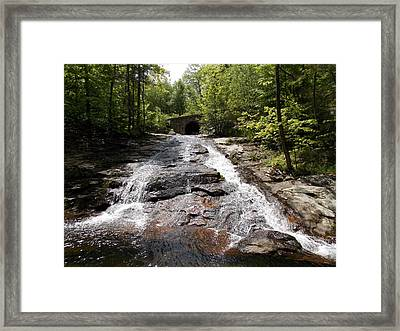 Upper Chapel Brook Falls Framed Print