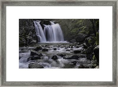 Upper Crystal Creek Falls  Framed Print
