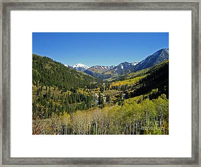 Framed Print featuring the photograph Upper Crystal River Valley by Eric Rundle