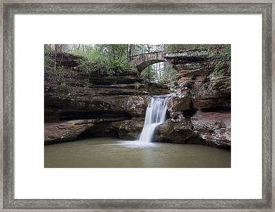 Upper Falls At Old Mans Cave II Framed Print