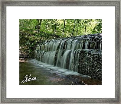 Upper Falls At Stillhouse Hollow Framed Print
