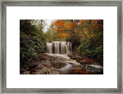 Upper Falls Waterfall On Big Run River  Framed Print