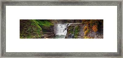 Upper Falls Wide Framed Print by Peter Chilelli