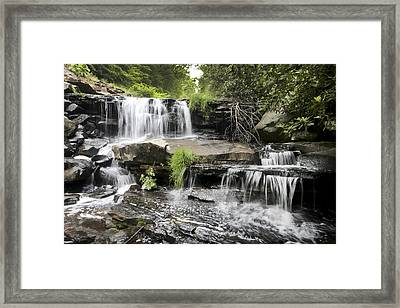 Framed Print featuring the photograph Upper Goose Creek Falls by Robert Camp