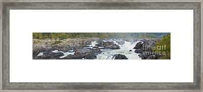 Upper Great Falls Panorama Framed Print by Benjamin Reed