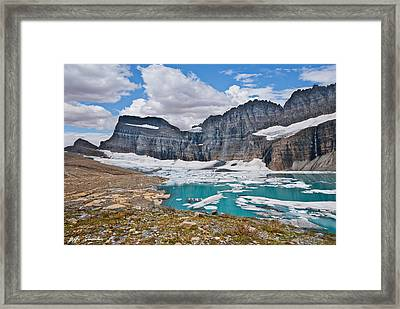 Upper Grinnell Lake And Glacier Framed Print