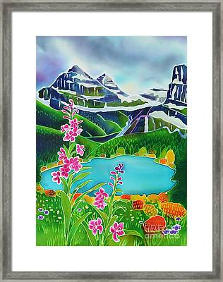 Storm Brewing In The High Country Framed Print by Harriet Peck Taylor