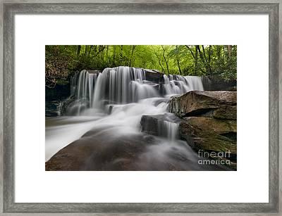 Upper Jonathan Run Falls D300_16557 Framed Print