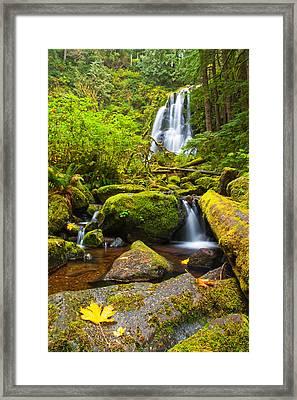 Upper Kentucky Falls - Autumn Framed Print