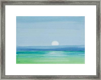 Upper Matecumbe Moonrise Framed Print