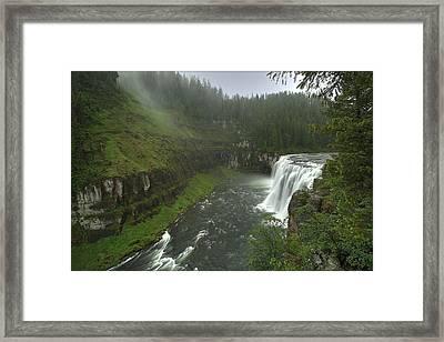 Upper Messa Falls Framed Print