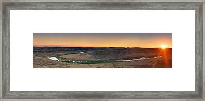 Upper Missouri Panoramic Framed Print