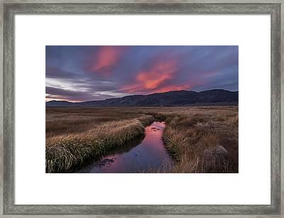 Upper Owens Sunset Framed Print