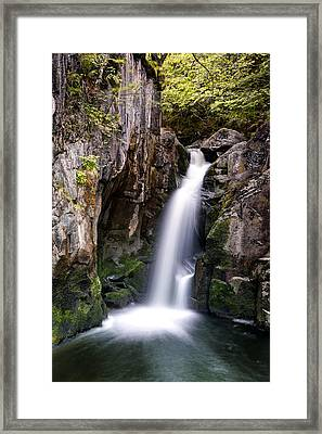 Upper Pecca Falls Framed Print by Chris Frost