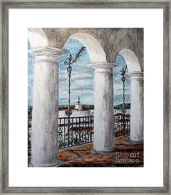 Upper Perspective Framed Print by Danuta Bennett